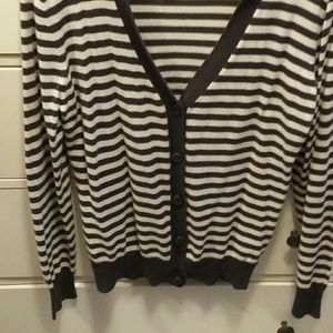 Rue 21 striped sweater with heart elbows
